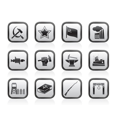 Socialism and revolution icons vector
