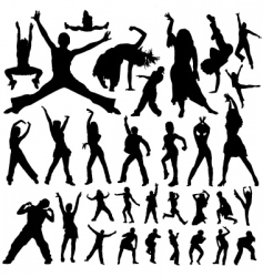 Dancing and party people vector