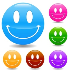 Hand drawn smile face vector