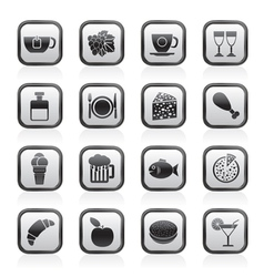 Food and drink and beverage icons vector