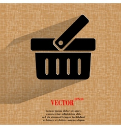 Shopping basket flat modern web design on a flat vector