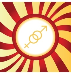 Gender signs abstract icon vector