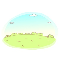 Cute idyllic landscape background vector