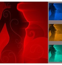 Woman sexy night body background set vector