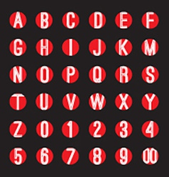 Modern style alphabets set vector