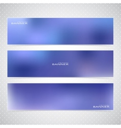 Horizontal set of banners with multicolored blured vector