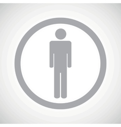 Grey man sign icon vector