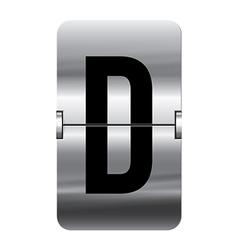 Alphabet silver flipboard letters d vector