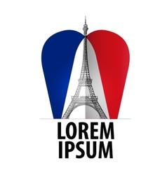 Paris logo design template france or vector