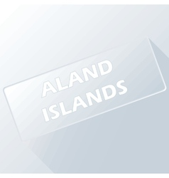 Aland islands unique button vector