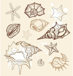 Sea collection hand drawn vector