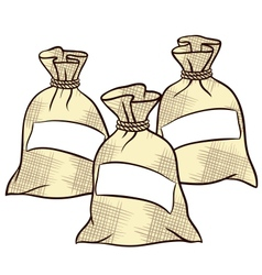 Sacks of flour sugar and salt vector