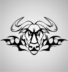 Tribal buffalo vector