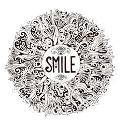 Smile greeting card vector