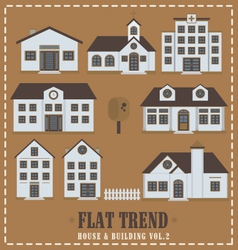 Flat house vol 02 for infographic vector