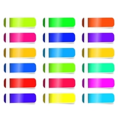 Empty colorful label paper set sticker vector