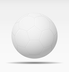 White soccer ball isolated vector