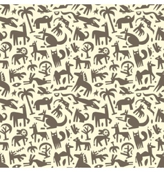 Animals - abstract seamless background vector