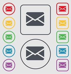 Mail envelope message icon sign symbol on the vector