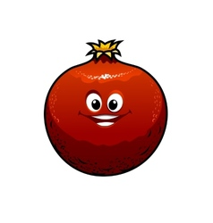 Red cartoon pomegranate vector