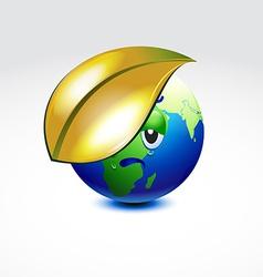 Earth global warming vector