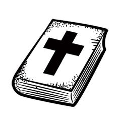 Bible doodle vector