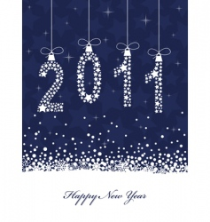 Happy new year 2011 vector