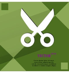 Scissors flat modern web design on a flat vector