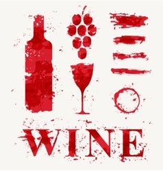 Wine elements consisting of a spray vector