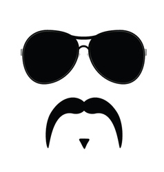 Face with mustache three vector
