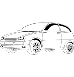 Passenger car vector