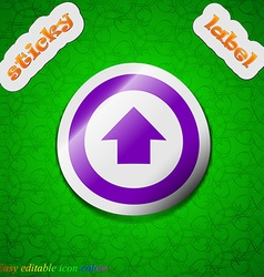 Direction arrow up icon sign symbol chic colored vector