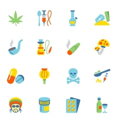 Drugs icons flat vector