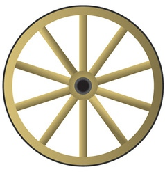 Old wooden wheel vector