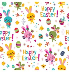Happy easter pattern vector