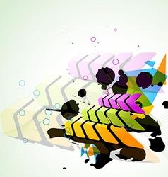Arrow style background vector