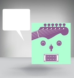 Guitar face concept vector