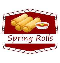 Spring rolls vector