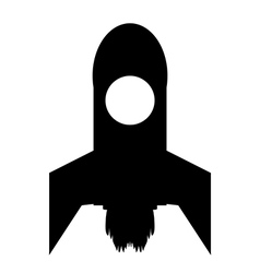 Starting rocket icon vector