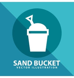 Sand bucket vector
