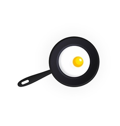 Tasty scrambled eggs vector