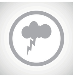 Grey thunderstorm sign icon vector