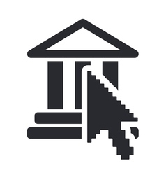 Web temple icon vector
