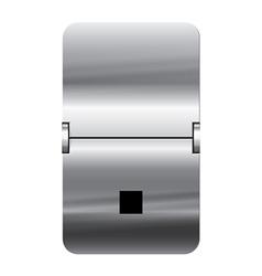 Alphabet silver flipboard letters dot vector