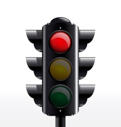 Traffic light red vector