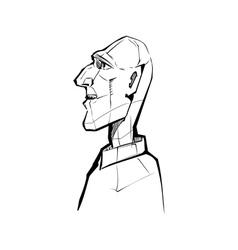 Male profile vector