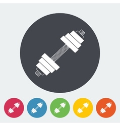 Dumbbell flat icon vector
