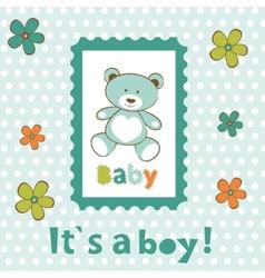 Baby boy card vector