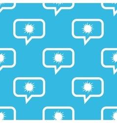 Starburst message pattern vector