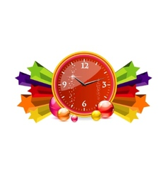 Classic chronometer time sign red color vector